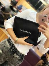 2019New BALENCIAGA² leather clutch black handbag Beach bag cosmetic bag