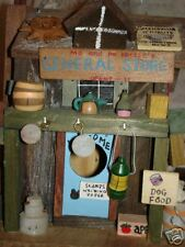 Vtg Wooden Birdhouse Country Store one side General store & other is Cream Soda