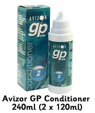 Avizor GP Acondicionador 240ml (2 X 120ml) rígido y gas permeable lentes de contacto