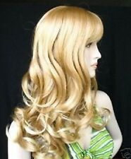 Fashion long wavy mix blonde like human hair full wig Wigs+weaving cap H181