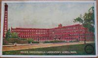 1905 Postcard: Hood's Sarsaparilla Lab- Lowell, Mass MA