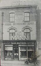 MANN BROTHERS MUSICAL INSTRUMENT DEPOT HIGH STREET COLCHESTER ESSEX 1912 PC
