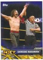 2017 Topps WWE NXT Wrestling Matches and Moments Blue /50 #32 Shinsuke Nakamura