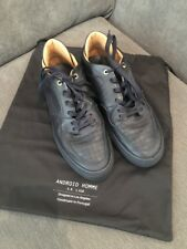 Android Homme G R 1 618 Trainers UK 9 US 10 Eur 43 Blue Omega Low Leather Shoes