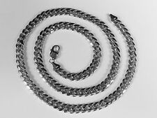 "14k Solid White Gold Miami Cuban Curb Link 26"" 8.75 mm 142 grams chain/Necklace"