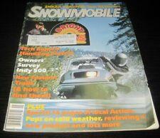 Vintage Snowmobile Magazine polaris yamaha ski doo Kawasaki arctic cat 1981