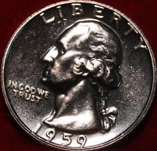 Uncirculated Proof 1959 Philadelphia Mint Silver Washington Quarter