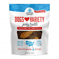 Traditions Filler Free Dogs Love Variety Premium Jerky Treats for Dogs, Chicken