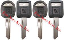"4 NEW GM Logo OEM ""E"" IGNITION +""H"" DOORS/TRUNK Key Blanks Uncut 595198 + 595311"