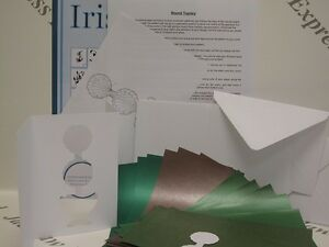"""Iris Folding Round Topiary Pack Complete Kit to Make 6 Cards measuring 6"""" x 4"""""""