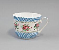 "Porzellan Becher/Jumbo-Tasse Dekor ""Blüten blau kariert"" Jameson&Tailor 9952296"