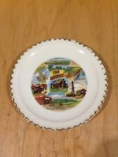 "Vintage Collector Plate 1950s 1960s The Ozarks Gold Trim 5"" *"