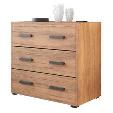 Como' maxi 3 cassetti  noce country in legno nobilitato H.81x L.91x P.45  A14325