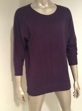 C By Bloomingdales 100% 2 Ply Cashmere Womns 3/4 Sleeve Sweater Small Purple