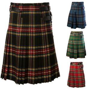 Herren Kariert Rock Scotland Scottish Traditional National Schottenrock Rock S/H