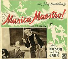 """""""SWING IT, MAGISTERN"""" Affiche originale italienne 1940 (Alice BABS, Adolph JAHR)"""