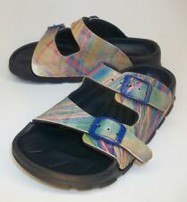 Birki's Arizona Kids Girls Sandals EU 29 US 11 Rainbow Buckle slides birko-flor