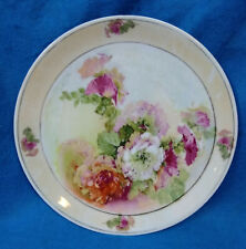 PM - Porzellanfabrik Moschendorf Bavaria Porcelain Floral Decorative China Plate