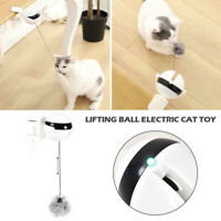 Self Playing Cat Toy Cat Teaser Automatic Lifting Electric Ball with Fluffy Ball