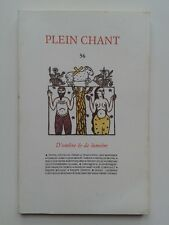 """"""" D'ombre & de lumière """" dans la revue Plain Chant, 1994 poésie"""
