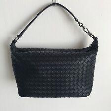 Bottega Veneta Navy woven Intrecciato Leather shoulder bag