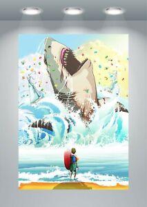 The MEG Shark Movie Poster Art Print A0 A1 A2 A3 A4 Maxi