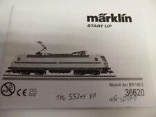 Märklin HO 36620 Lok -Bedienungsanleitung-Anleitung-Gebrauchsanleitung