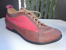THINK Damen Schuhe Leder Braun Rosa Germany Gr.38,5 TOP