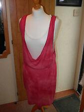 New Ladies Lady's Womens Basic-Pink Double T Shirt Dress Sz 12 - 14 M by Zara
