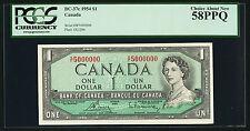 1954 $1.00 BC-37c PCGS AU 58 PPQ ** 5000000 Very RARE Million Serial Number Note
