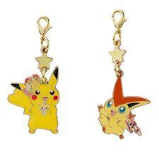Pokemon Center Tohoku Metal Charm Pikachu Victini SM Sun Moon Japan
