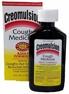 Creomulsion Adult Cough Medicine 4 Ounce Pack of 3