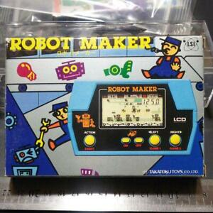 Takatoku Toys Robot Maker LSI Game & Watch Blue w / Box Used