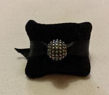 Pandora Moments Dotty Oxidised Silver Clip Charm