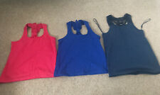 3 X Girls Vest Tops - Age 6-7 Years