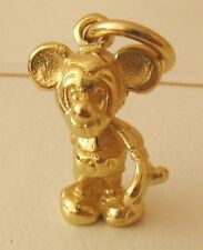 SOLID 9K 9ct Yellow GOLD 3D MICKEY MOUSE ANIMAL Charm /Pend RRP $179