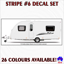 2m Stripe #6 decal sticker set graphics.Caravan,campervan,motorhome,car striping