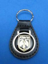 PONTIAC FIERO AUTO LEATHER KEYCHAIN KEY CHAIN RING FOB #112