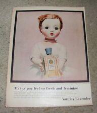 ** Vintage 1957 Yardley Madame Alexander Cissy Doll Magazine Advertisement **