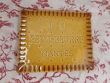 ANCIEN DESSOUS DE PLAT LU PETIT BEURRE NANTES VERITABLE  BARBOTINE NUMEROTE