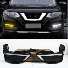 For 2017 2018 2019 Nissan Rogue X-Trail LED Fog light DRL Daytime Running Light