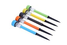 (Pack of 5)Portable Solar LED Colored Outdoor Lawn Light Garden Path Stake Spot
