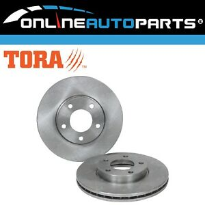 2 Front Disc Brake Rotors suits Mazda 3 BK BL 2004 to 2014 Neo Maxx SP20