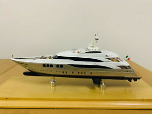Handcrafted 50M Yacht Boat Model 1/160 Scale Resin, Silver Color