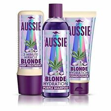 Aussie Blonde Hydration Purple shampoo, Hair Conditioner and 3 Minute Miracle
