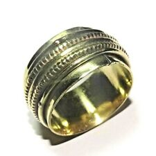Solid Brass Meditation Spinner Ring Stetement Ring Jewelry Size 10.25 US SP9
