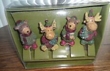 St Nicholas Square Heartland Set of 4 Spreaders Bears and Moose- Brand New