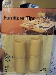"""WAXMAN KF 6573 SAND COLORED FURNITURE TIPS 5/8"""" LEGS SET OF 4 BRAND NEW IN PACK"""