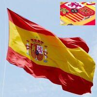 Bandera Española Oficial Grande Dia Hispanidad Nacional Escudo España 90x150 cm