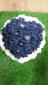 Wedding Flowers Bride Rose Heart Bouquet Posy Posie Teardrop Shower